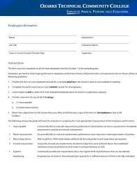 46 employee evaluation forms u0026 performance review examples
