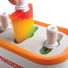 Orange Bathroom Accessories Uk by Amazon Com Zoku Quick Pop Maker White Ice Pop Molds Kitchen