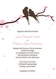 Cherry Blossom Wedding Invitations Lovebirds And Cherry Blossoms Free Invitation Wedding