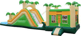 tropical bounce house water slide and pool combo idolza