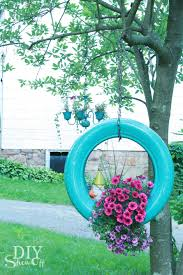 Planters That Hang On The Wall Diy Tire Planter Tutorialdiy Show Off U2013 Diy Decorating And Home
