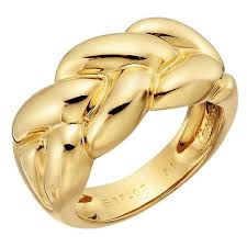 braided band cartier braided gold band ring at 1stdibs