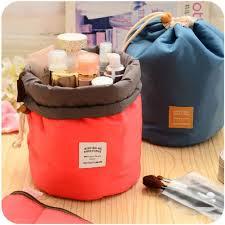 amazon com e support barrel shaped travel cosmetic bag nylon