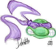 sketch of donatello teenage mutant ninja turtles that werks