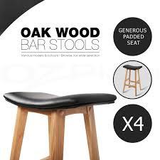 oak wood bar stools 2x 4x oak wood bar stool wooden barstool timber dining chair