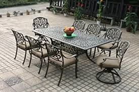 Cast Aluminum Patio Tables Heritage Outdoor Living Elisabeth Cast Aluminum 9pc