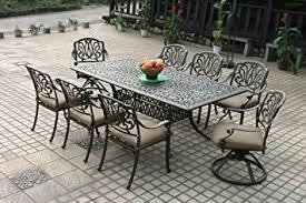 Cast Aluminum Patio Furniture Sets Heritage Outdoor Living Elisabeth Cast Aluminum 9pc