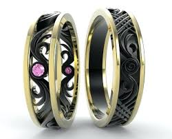 his and hers matching wedding rings matching wedding rings his and hers shape ban iamon brushe his and