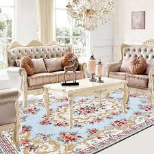blue living room rugs fashion lake blue sitting room carpet elegant floral living room