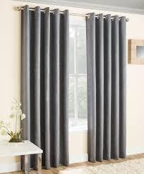 Eyelet Curtains Ready Made Blackout Eyelet Curtains Grey