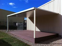 boxspan deck frame with composite decking boards and steel frame