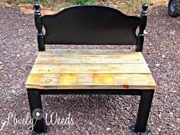 easy headboard bench lovely weeds