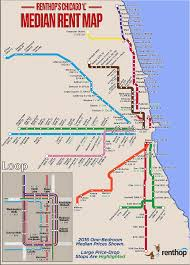 Map To Chicago by Where Does The Train Of Rising Rents Stop Renthop
