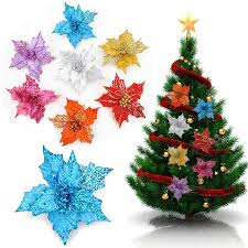 Christmas Tree Centerpieces Wedding by Glitter Artificial Hollow Christmas Flowers Xmas Tree Decorations