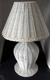 Wicker Table Lamp Vintage Wicker Table Lamp And Shade Electric White X Condition