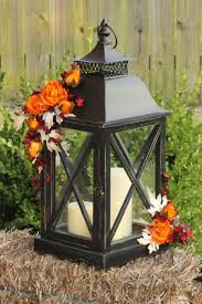 fall autumn rustic lantern centerpiece autumn wedding