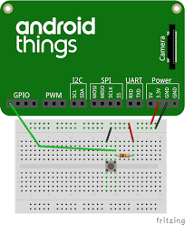 android image button implement a doorbell button android things