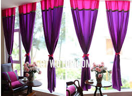 Purple Curtains Living Room Purple Living Room India Home Fashions Curtains