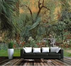 online get cheap tropical mural aliexpress com alibaba group custom 3d photo wallpaper living room mural sticker tropical rainforest plants painting sofa tv background wall