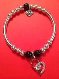 sterling bead bracelet images Sterling silver and jet noodle bead bracelet krissy jpg