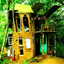 the flying tortoise a tiny funky rustic hand built earthen house