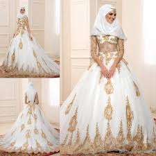 wedding dress for muslim muslim gold lace wedding dresses 2016 with sheer sleeve a