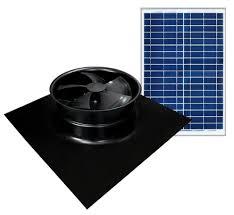 solaro aire american made solar powered attic fan