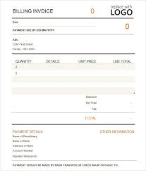Billing Template Excel Invoice Bill Template Free Printable Invoice