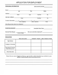 application form sample of blank application form