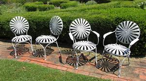 Antique Rod Iron Patio Furniture by C1900 French Metal Garden Chairs Bertolinico Com
