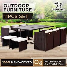 Oasis Outdoor Patio Furniture 11pc Perfect Oasis Outdoor Dining Set Wicker Ra Outbaxcamping