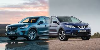 nissan suv 2016 models nissan qashqai vs mazda cx 5 side by side uk comparison carwow