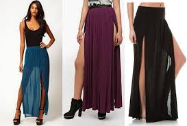double slit dresses u0026 skirts getting extremely trendy fashion