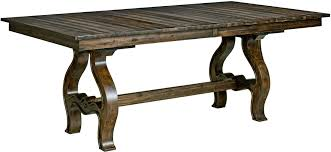 Ember Table Wildfire Ember Extendable Trestle Dining Table From Kincaid 86
