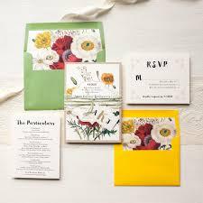 boho wedding invitations garden inspired green yellow