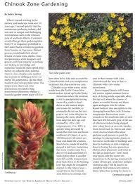 Zone Gardening - chinook zone gardening wild flower seeds u0026 plants wild about