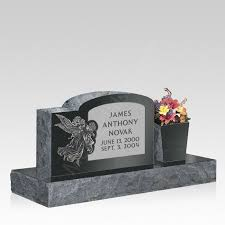 upright headstones angel upright cemetery headstone