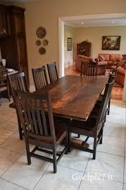 Harvest Kitchen Table by 7 U0027 Trestle Table Reclaimed Hemlock Premium Epoxy Matte