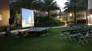 Backyard Movie Night Rental Visual Advantage