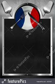 Flags Restaurant Menu Illustration Of French Restaurant Menu Design