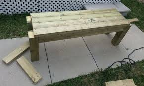 How To Build A Bench Vise How To Build A Simple Patio Deck Bench Out Of Wood Step By Step