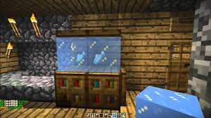 How To Make Decorations In Minecraft How To Make A Fish Tank In Minecraft Minecraft Furniture Episode