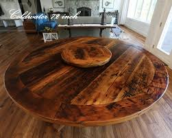 24 round pedestal table reclaimed wood pedestal table with lazy susan 10 blog