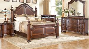 king poster bedroom set cortinella cherry 7 pc king poster bedroom king bedroom sets dark wood