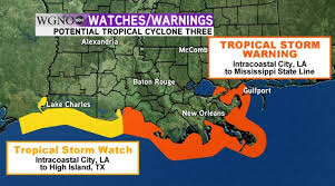 Louisiana travel alerts images Tropical storm warnings issued for coastal louisiana wgno jpg