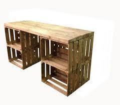 Cheap Desks With Drawers Best 25 Crate Desk Ideas On Pinterest Crate Storage Desk Ideas
