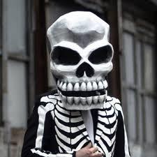 mardi gras skull mask paper maché skull mask manning makes stuff