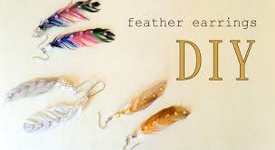 how to make feather earrings with how to make feather earrings three design ideas by fluffy