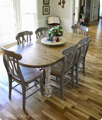acme wallace dining table weathered blue washed weathered grey dining table french farmhouse makeover 19