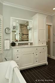 Bathroom Tower Cabinet Bathroom Tower Cabinets With Traditional Molding Trim Bathroom